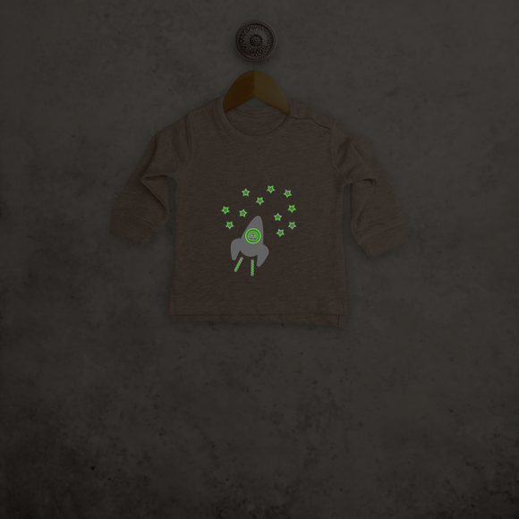Astronaut glow in the dark baby sweater