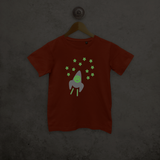 Astronaut glow in the dark kids shortsleeve shirt