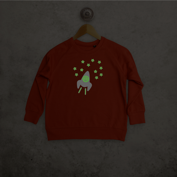 Astronaut glow in the dark kids sweater