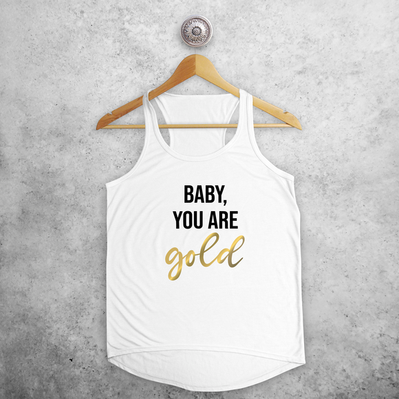 'Baby you are gold' tank top