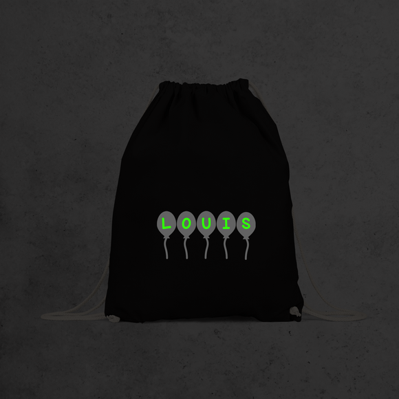 Balloons glow in the dark backpack