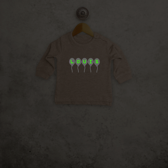 Balloons glow in the dark baby sweater