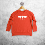 Balloons glow in the dark kids sweater