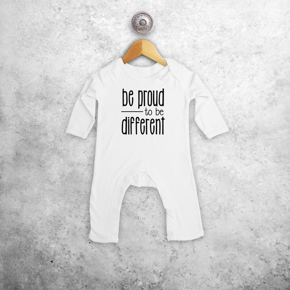 'Be proud to be different' baby longsleeve romper