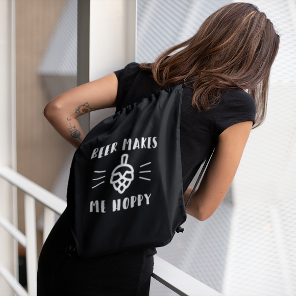 'Beer makes my hoppy' backpack