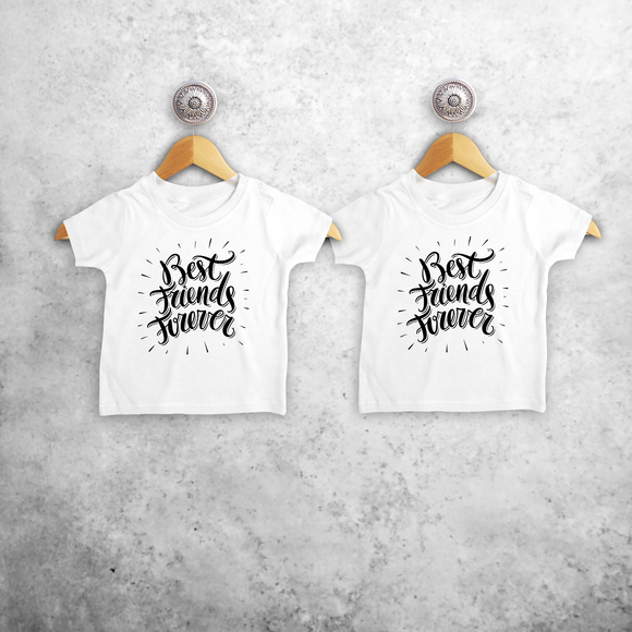 'Best friends forever' baby sibling shirts