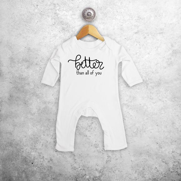 'Better than all of you' baby romper