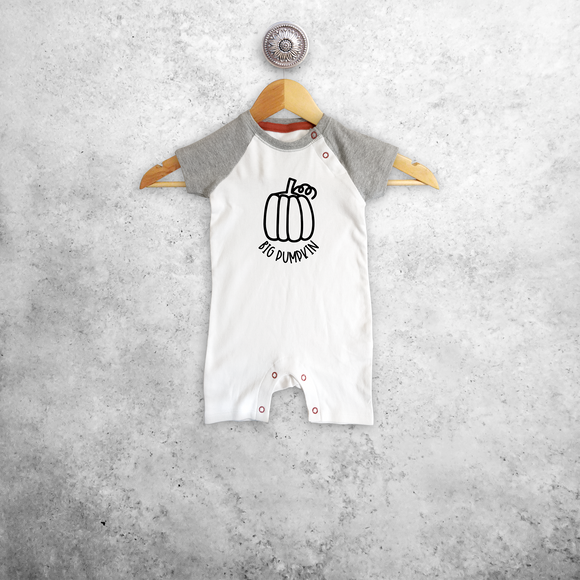 'Big pumpkin' baby shortsleeve romper