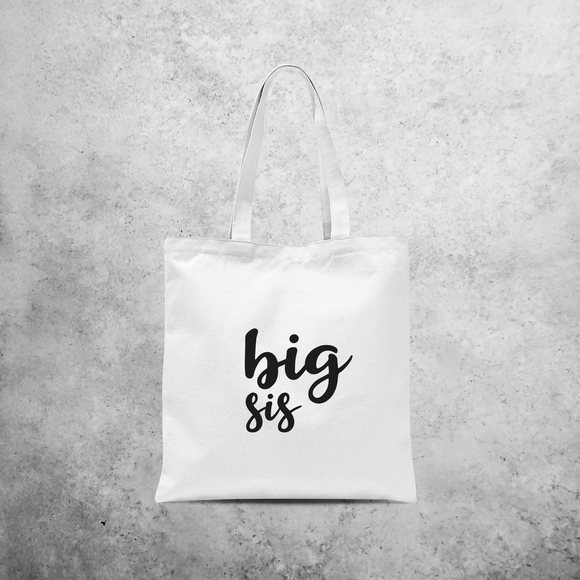 'Big sis' tote bag