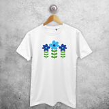 Blue flowers adult shirt