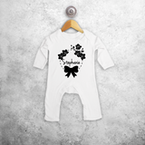 Bow and flowers baby romper