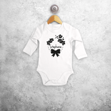 Bow and flowers baby longsleeve bodysuit