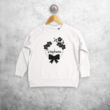 Bow and flowers kids sweater