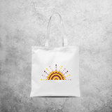 Flower and dots tote bag