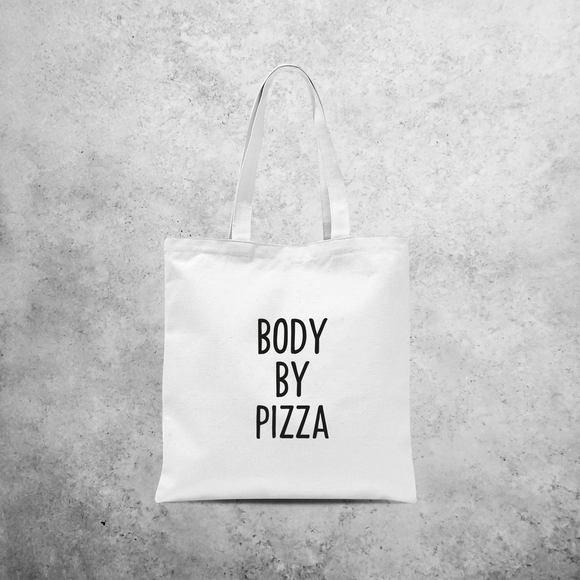 'Body by pizza' tote bag