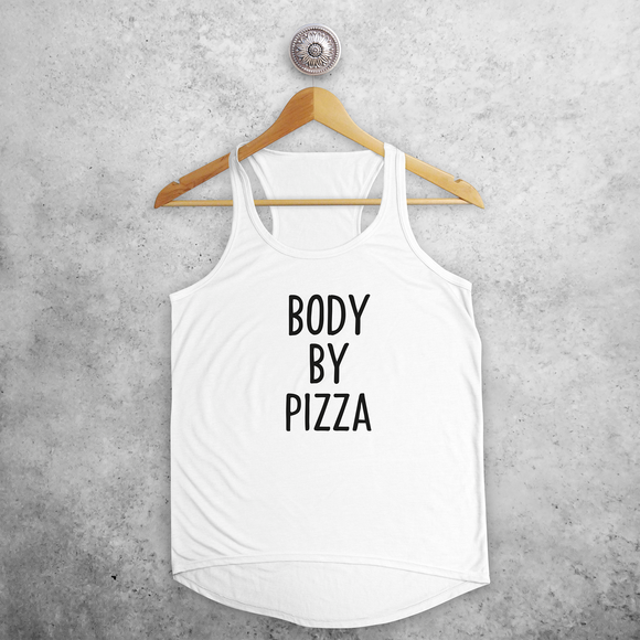 'Body by pizza' tank top