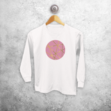 Circle pink and gold kids longsleeve shirt