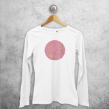 Circle pink and gold adult longsleeve shirt