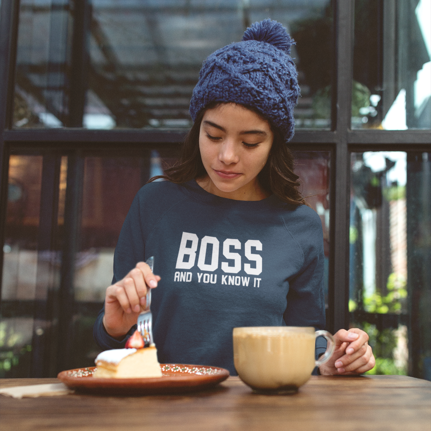 'Boss and you know it' sweater
