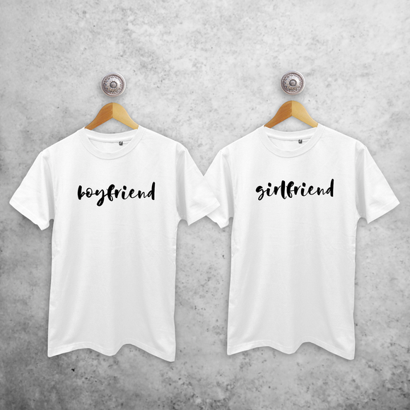 'Boyfriend' & 'Girlfriend' couples shirts