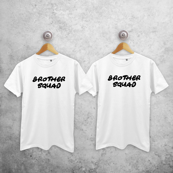 'Brother squad' adult sibling shirts