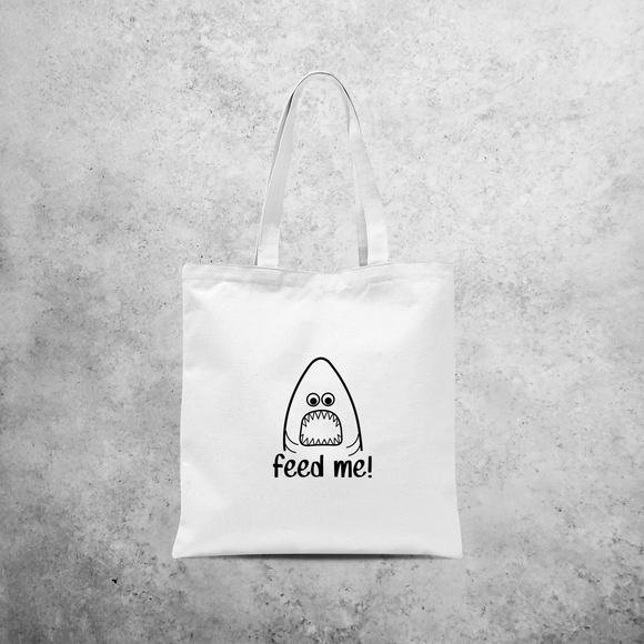 'Feed me' tote bag
