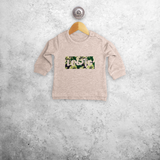 Camouflage name baby sweater