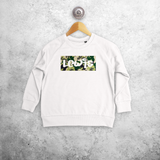 Camouflage name kids sweater