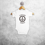 'Captain' baby shortsleeve bodysuit