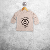 'Captain' baby sweater