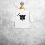 Cat lady in training' baby longsleeve shirt