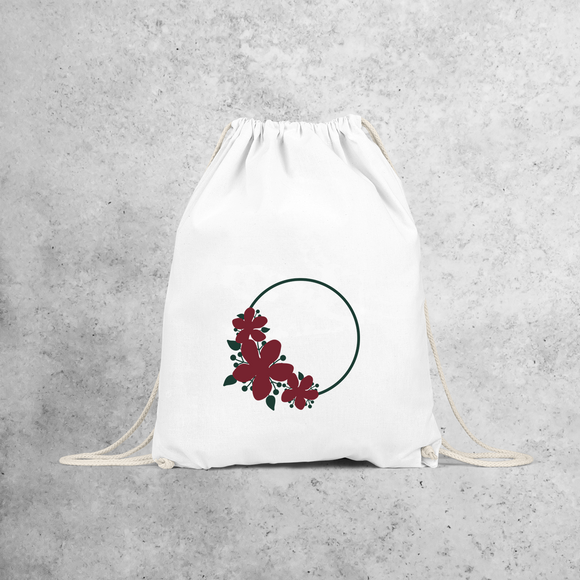 Circle and flowers backpack