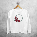Circle and flowers sweater