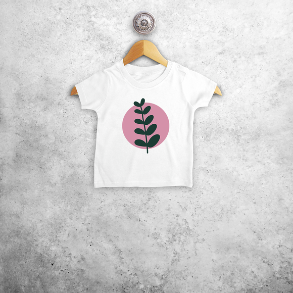 Plant and circle baby shortsleeve shirt