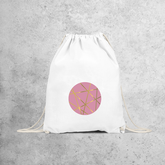 Circle pink and gold backpack