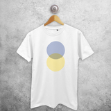 Striped circles adult shirt