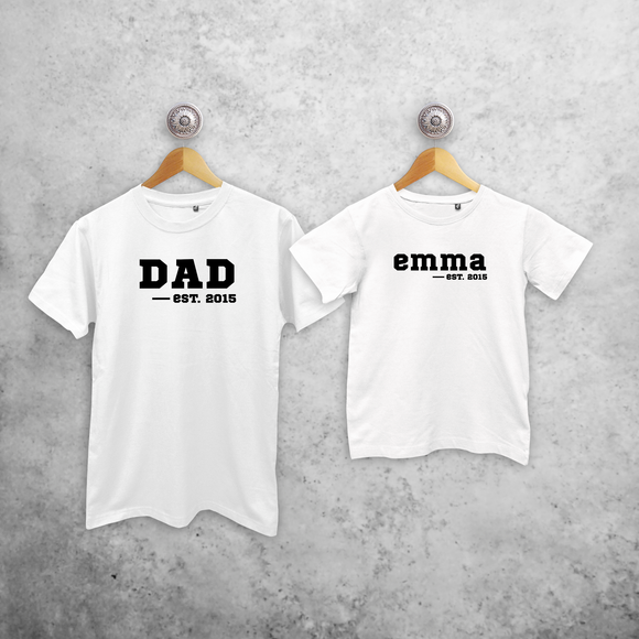'Dad' & '-est' matching shirts