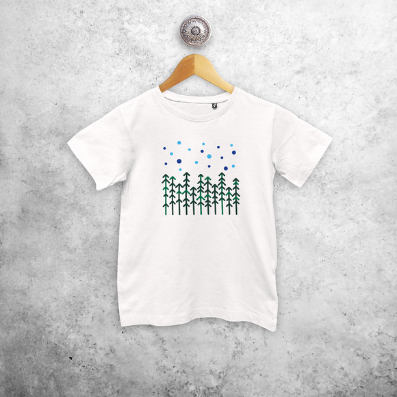 Pine trees kids shortsleeve shirt