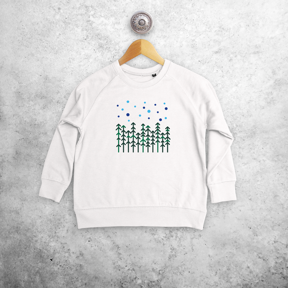 Pine trees kids sweater