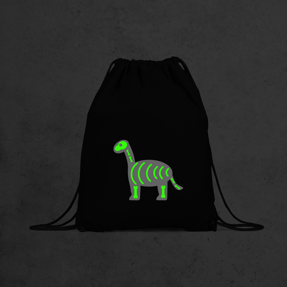 Dino glow in the dark backpack