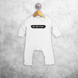 'Dirt don't hurt' baby romper