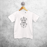 'Don't panic, I'm organic' kids shortsleeve shirt