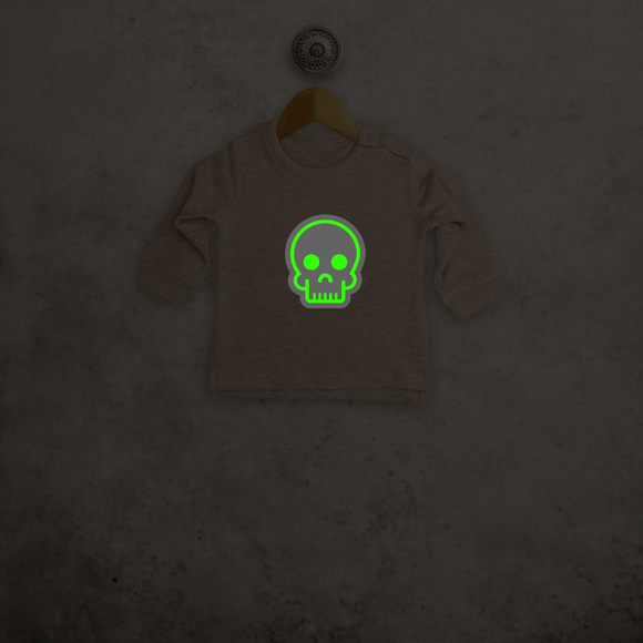 Skull glow in the dark baby sweater