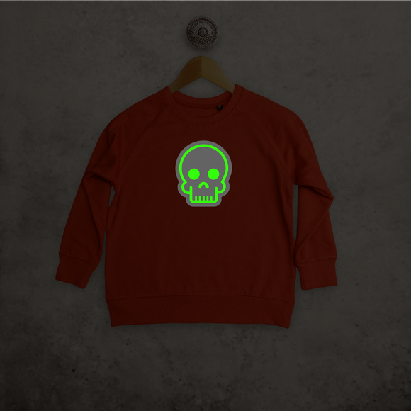 Skull glow in the dark kids sweater