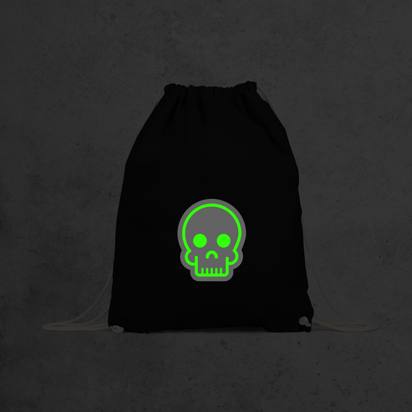 Skull glow in the dark backpack