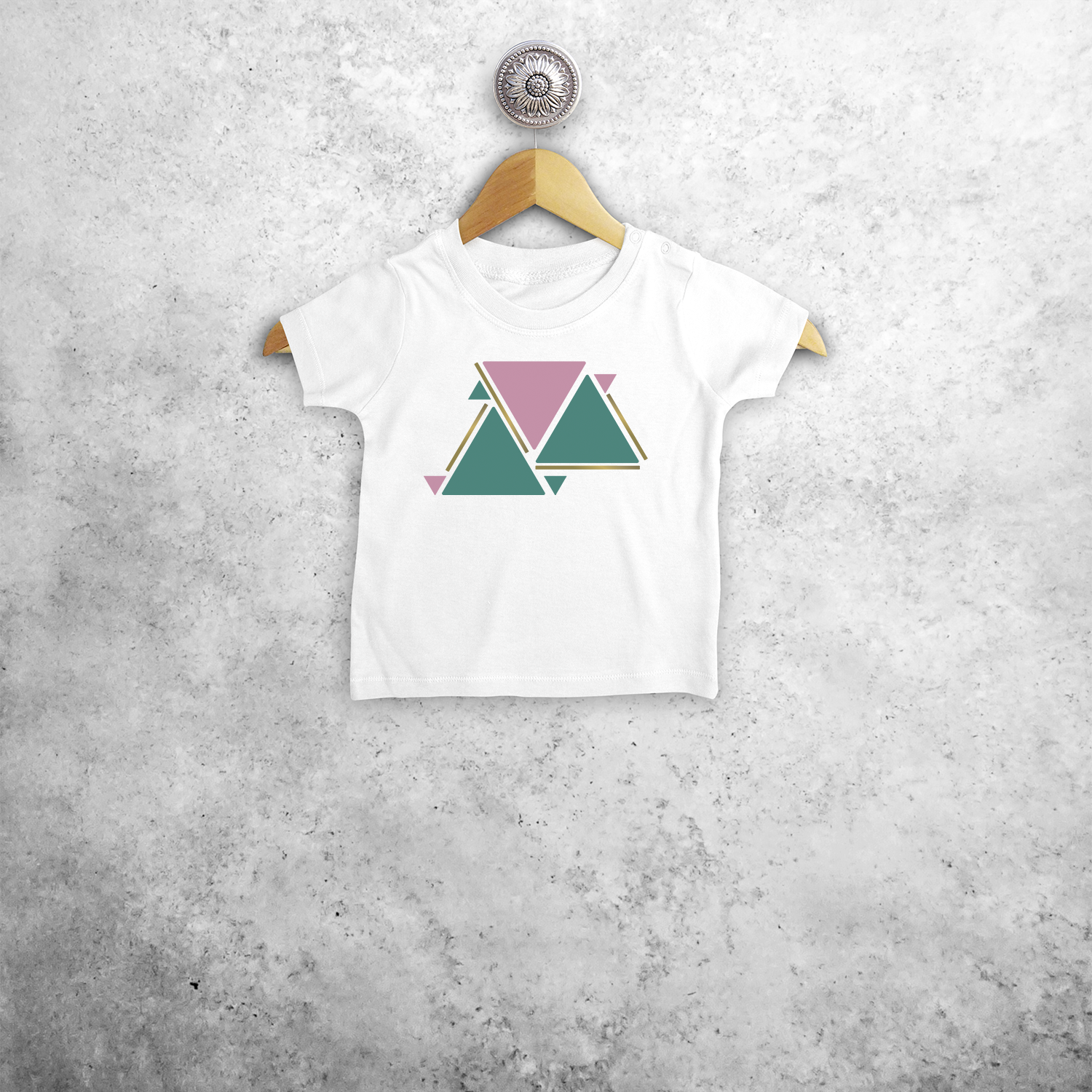 Triangles baby shortsleeve shirt