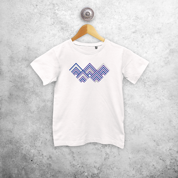 Triangles kids shortsleeve shirt