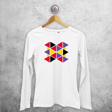 Triangles adult longsleeve shirt