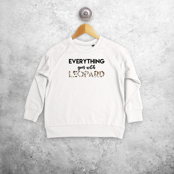 'Everything goes with leopard' kids sweater
