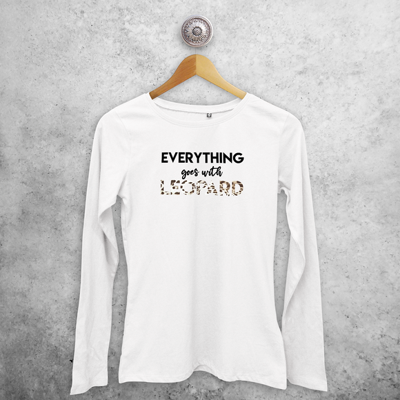 'Everything goes with leopard' adult longsleeve shirt
